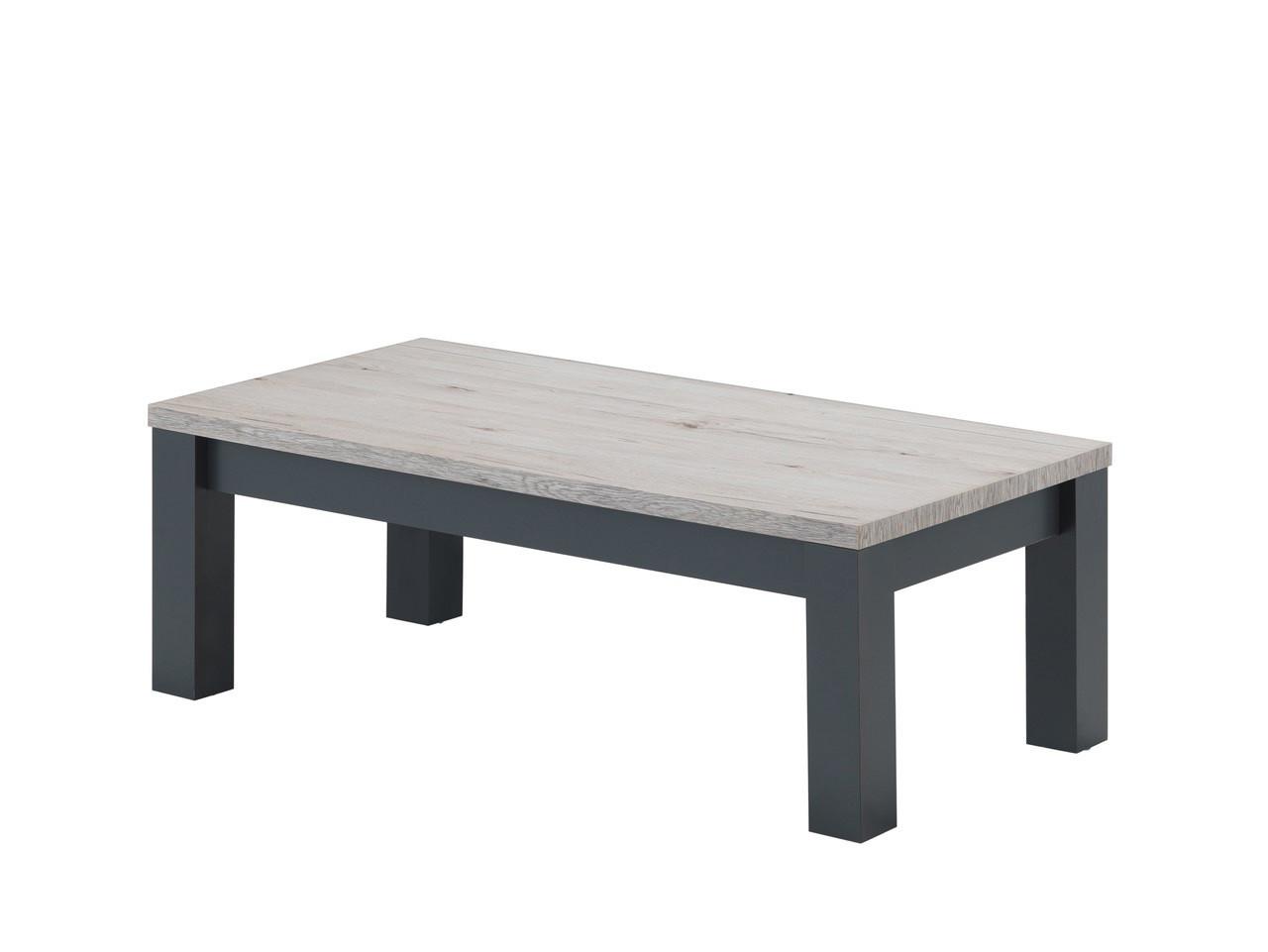 Table basse contemporaine coloris chêne clair Freddy