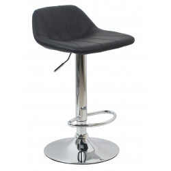 Tabouret de bar design en PU noir (lot de 2) Mattie