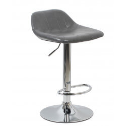 Tabouret de bar design en PU gris (lot de 2) Mattie