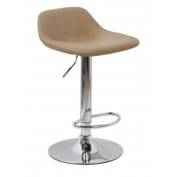 Tabouret de bar design en PU brun (lot de 2) Mattie