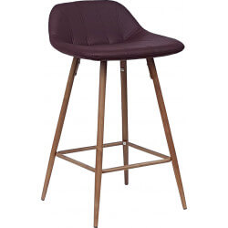 Tabouret de bar design en PU bordeaux (lot de 2) Mattie II