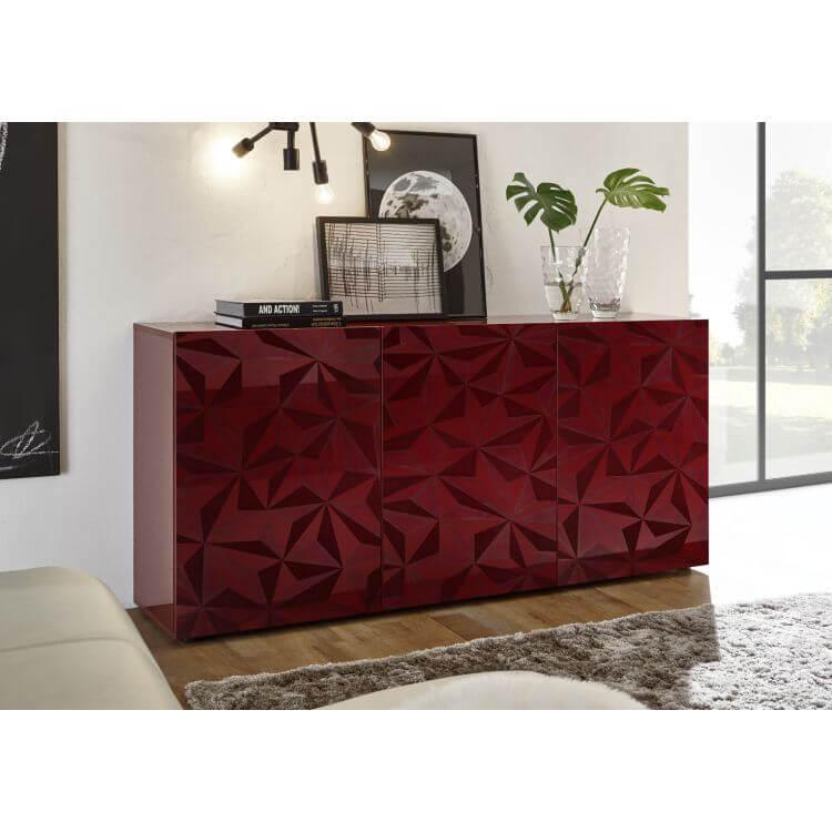 buffet bahut design laqu rouge s rigraphi 181 cm rubis ii matelpro. Black Bedroom Furniture Sets. Home Design Ideas