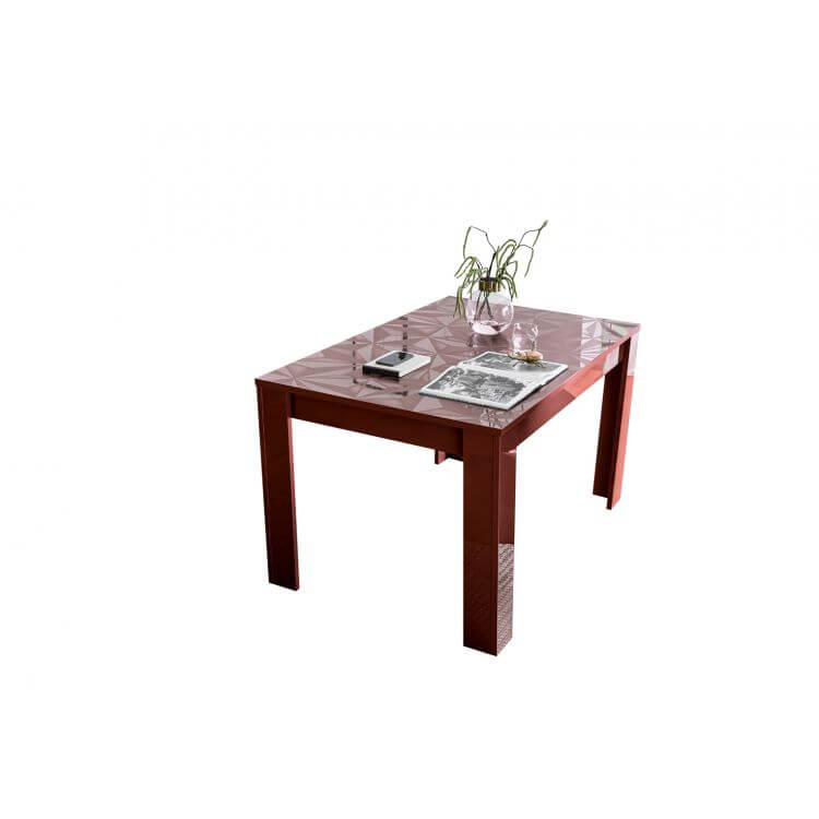 table de salle 224 manger extensible design laqu233 rouge