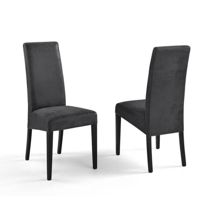 Chaise de salle manger contemporaine en tissu buffalo lot de 2 adriana matelpro - Chaise de salle a manger contemporaine ...