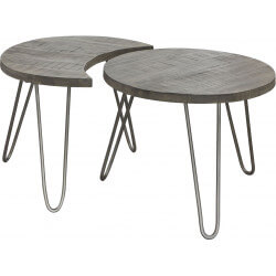Tables basses modulables en bois massif Ø 60 cm Basile II