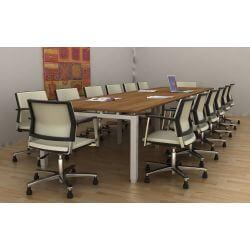 Table de réunion contemporaine carrée 120 cm Zelda