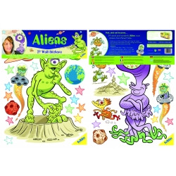 Blister 39 stickers ALIENS