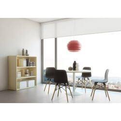 Chaise d'accueil design en bois et PVC noir (lot de 4) Cador