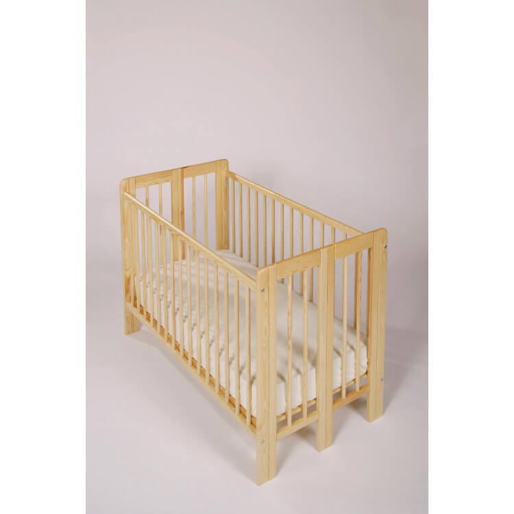 Lit bébé à barreaux contemporain pliable Mesaline