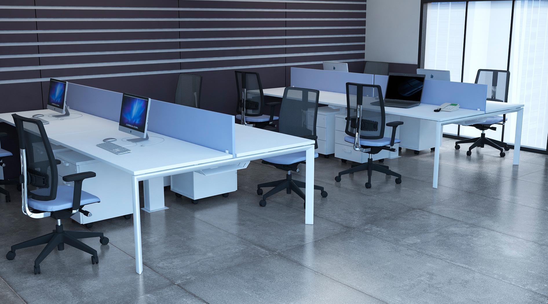 Bureau bench contemporain 4 personnes Regis