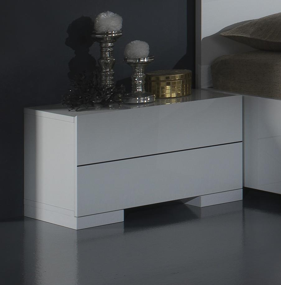 Chevet design laqué blanc Gardian
