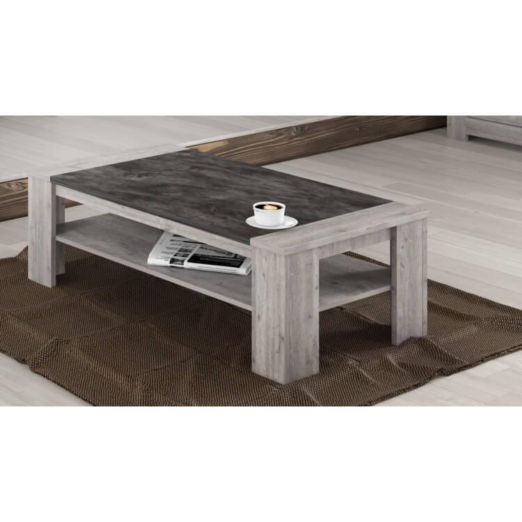 Table basse contemporaine coloris chêne gris Talisman