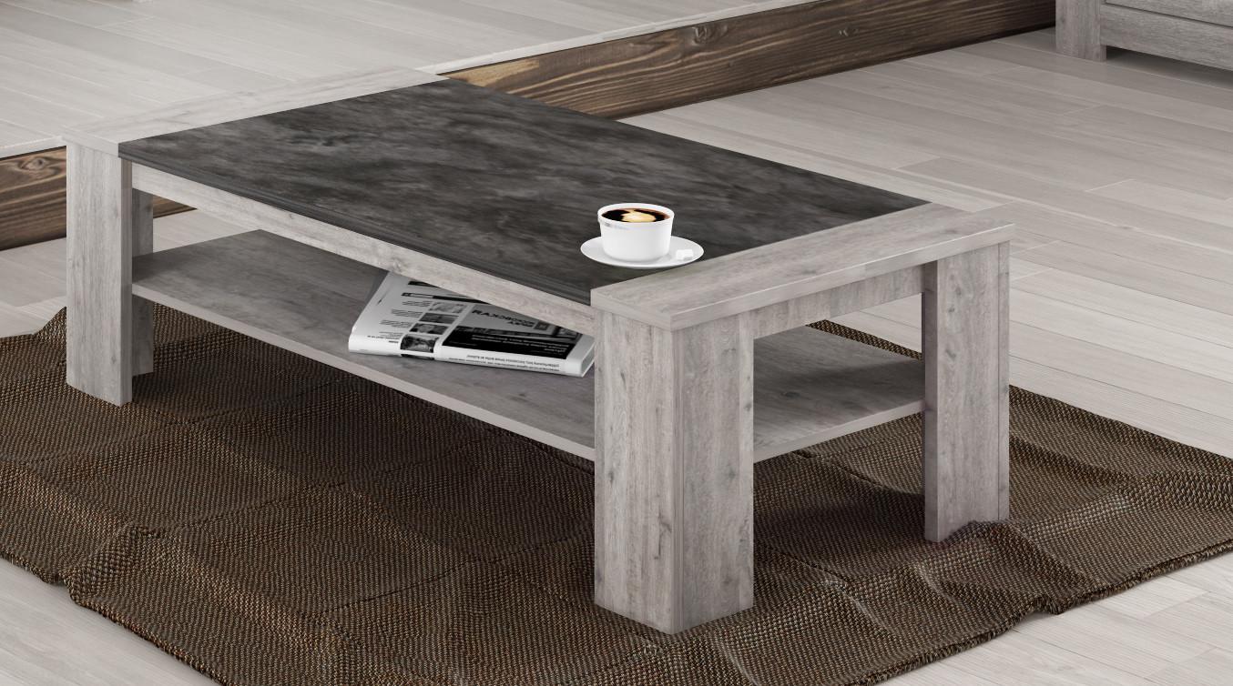 Table basse contemporaine chêne gris Talisman
