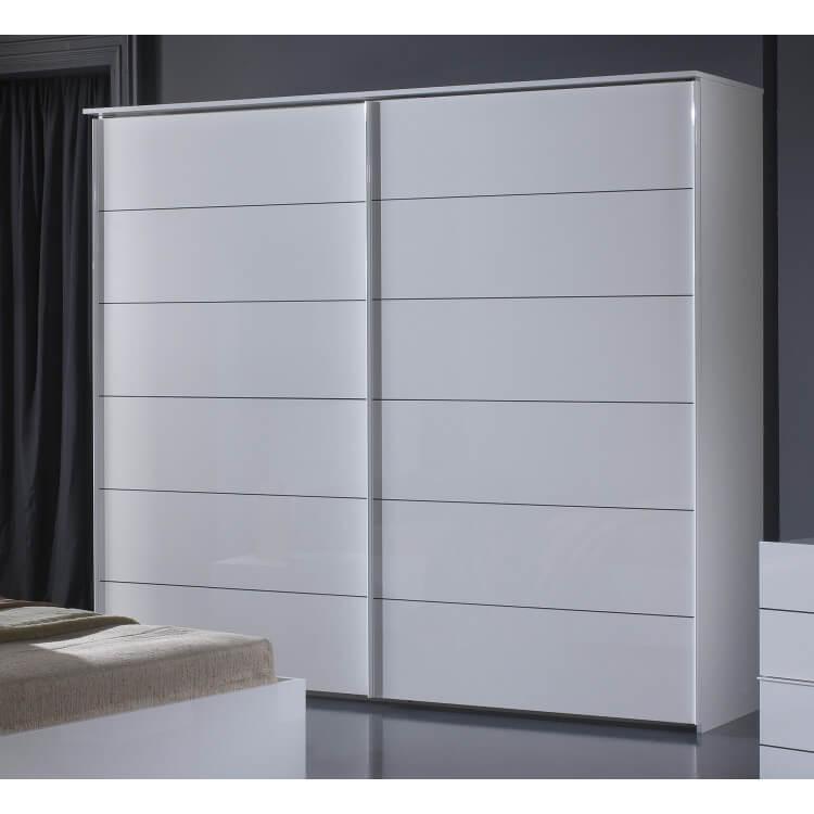 Armoire design portes coulissantes laquée blanche Gardian