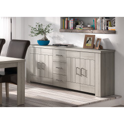 Buffet/bahut contemporain gris clair Elisa