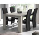 Table de salle à manger contemporaine gris clair Mirella