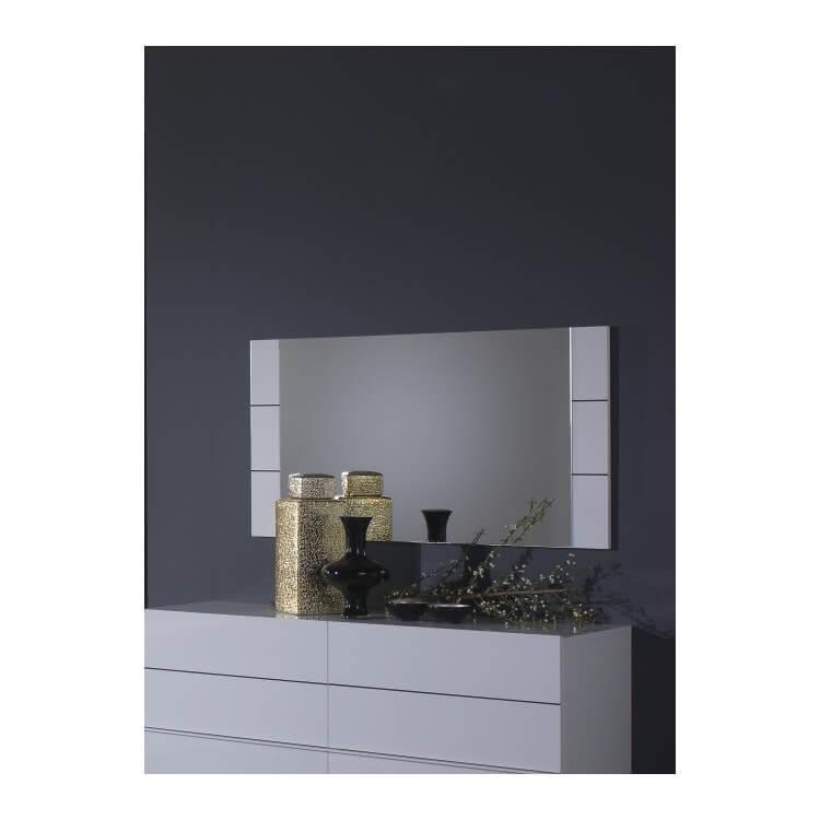 Miroir rectangulaire design laqué blanc Gardian