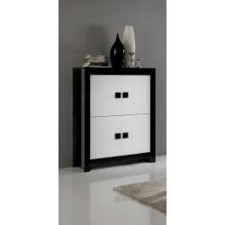 Vaisselier/argentier portes pleines design laqué noir et blanc Dali