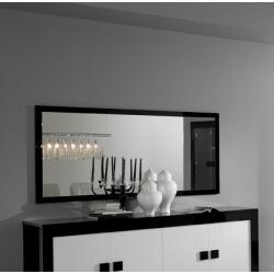 Miroir rectangulaire de salle à manger laqué noir Dali