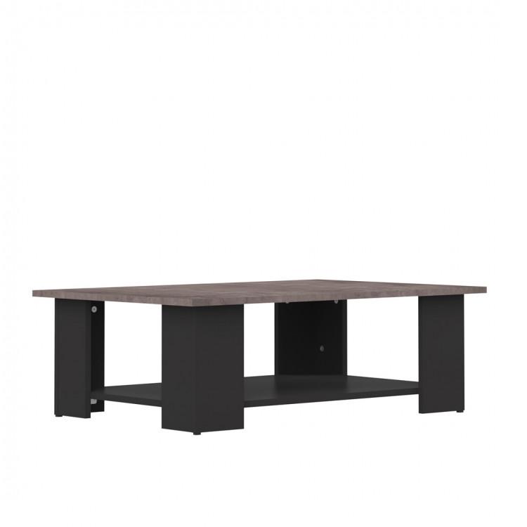 Table basse contemporaine noir/béton Fanette