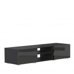 Meuble TV design laqué noir Adélia