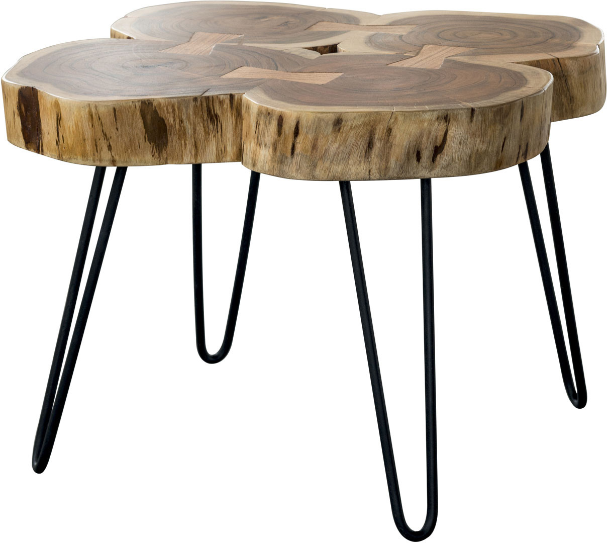 Table basse contemporaine en bois massif d'acacia Antoine