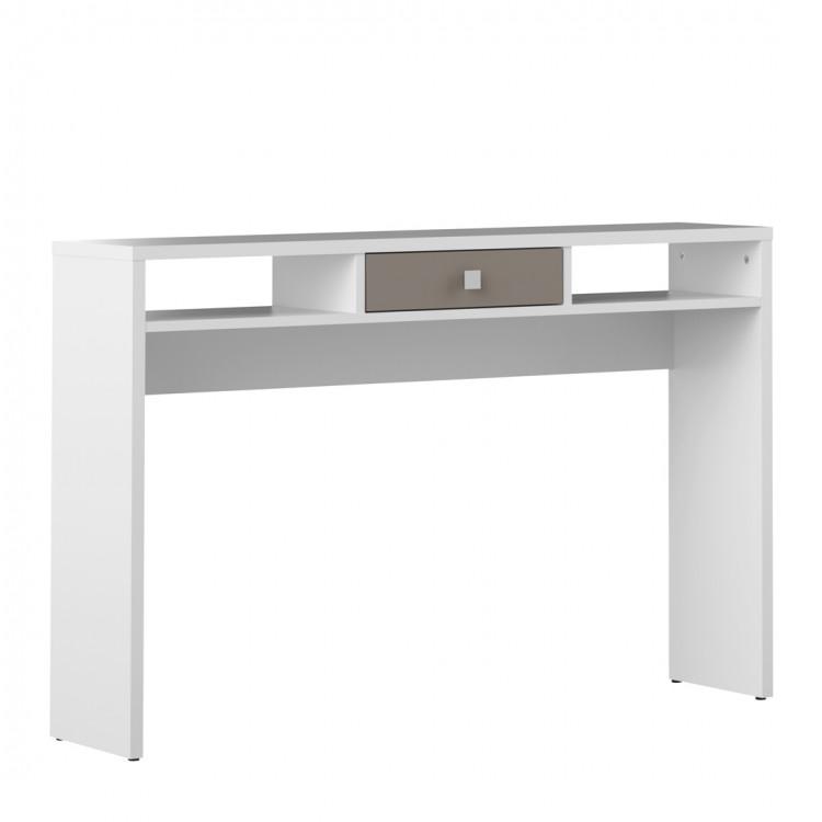 Console contemporaine blanc/taupe Alrik