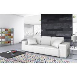 Canapé design 3 places en cuir noir Sofiane