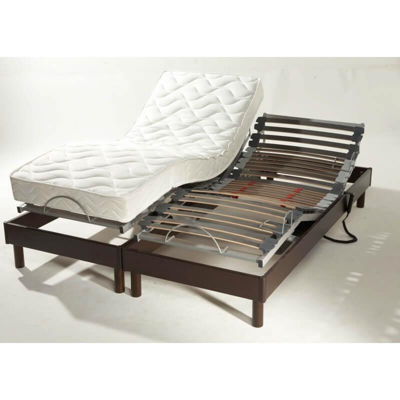 ensemble literie relaxation lectrique comete 2 x 80 x 200 cm. Black Bedroom Furniture Sets. Home Design Ideas