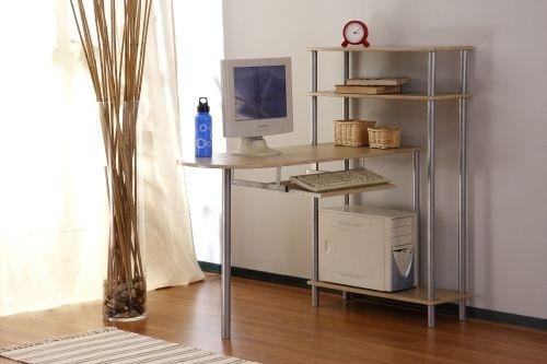 Bureau design avec rangement coloris naturel Aron