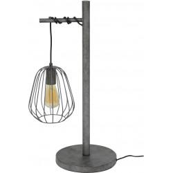 Lampe de table vintage en métal gris ancien Stella
