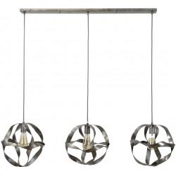 Lustre vintage en métal 3 lampes Anaïs