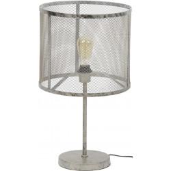 Lampe de table vintage en métal gris Manon