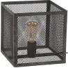 Lampe de table vintage carrée en métal gris Manon