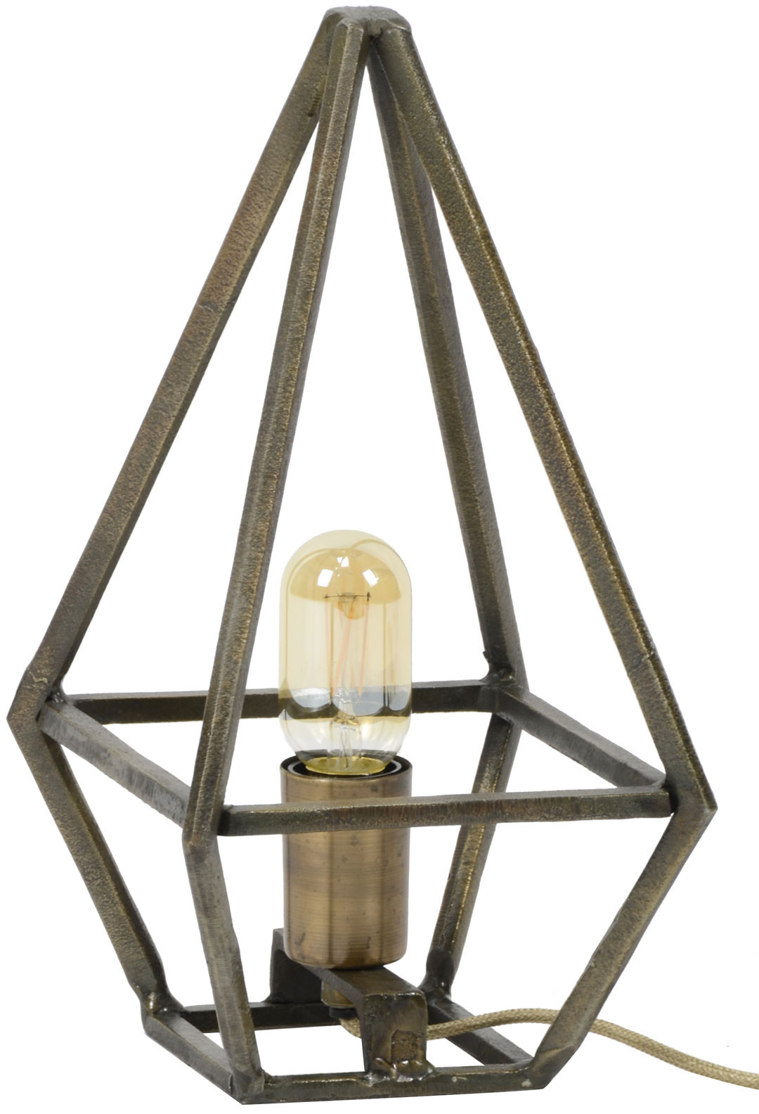 Lampe de table en métal bronze antique Victoria