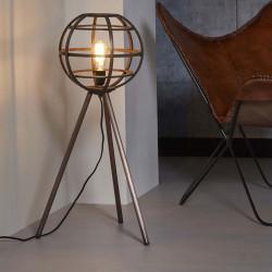 Lampadaire vintage en métal cuivré Ø 40 cm Julia