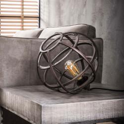Lampe de table vintage en métal cuivré Ø 33 cm Julia