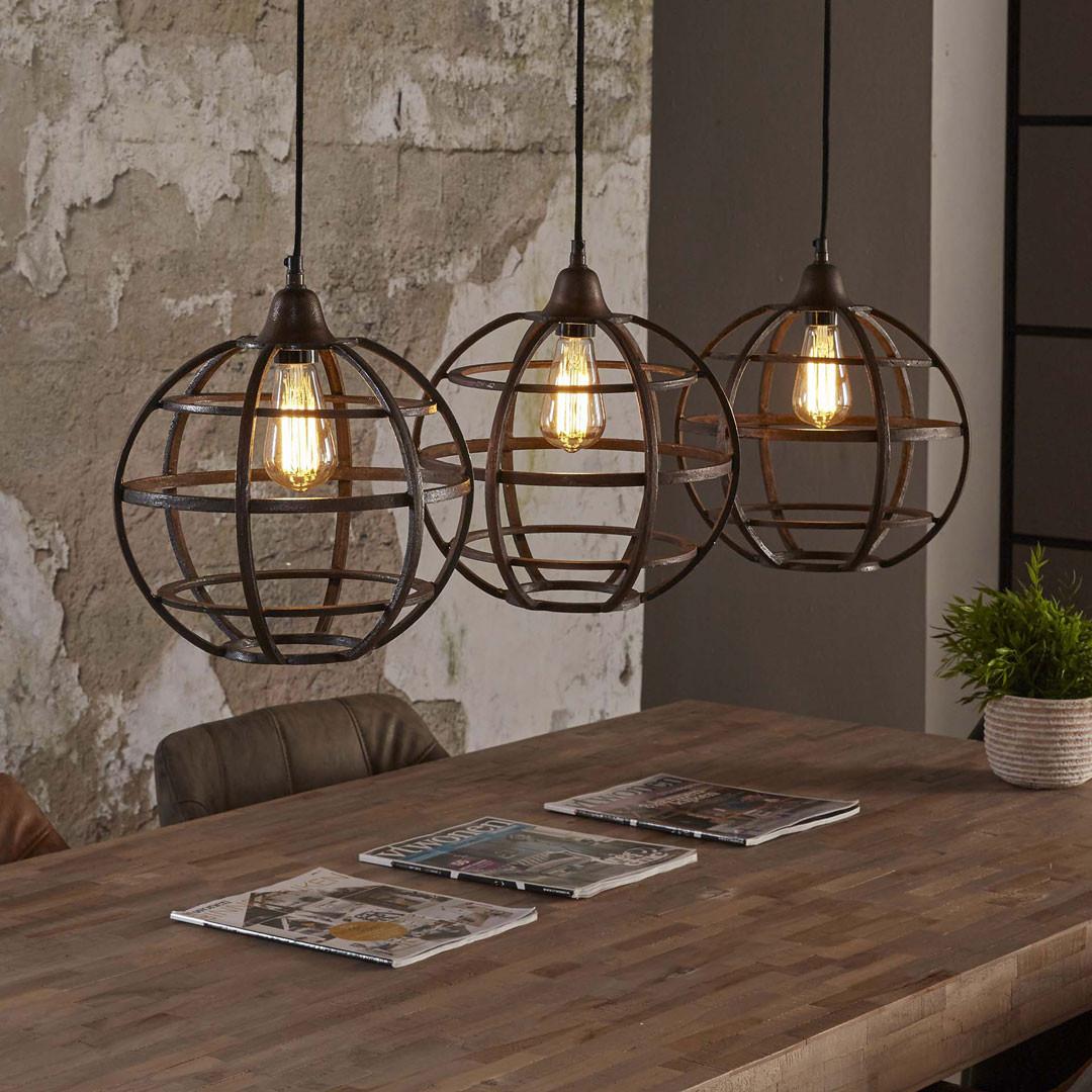 lustre vintage en m tal cuivr 3 lampes 33 cm julia matelpro. Black Bedroom Furniture Sets. Home Design Ideas