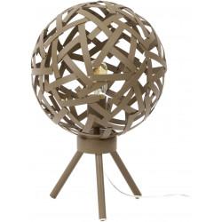 Lampe de table vintage en métal brun rouillé Ø 30 cm Jasmine
