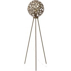 Lampadaire vintage en métal brun rouillé Jasmine