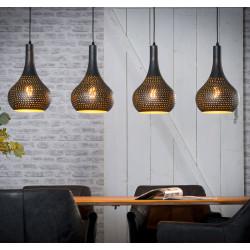 Lustre industriel en métal brun 4 lampes Julie