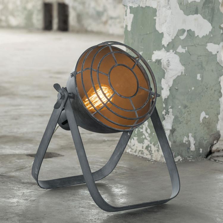 Lampe de table industrielle en métal noir Ø 22 cm Lilia