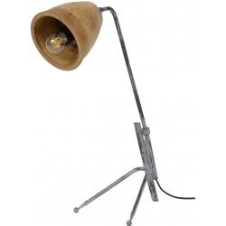 Lampe de table vintage en bois Lilia