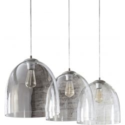 Suspension design en verre 3 lampes Ø 33 cm Floriane