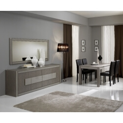 Salle à manger design chêne gris Sofiane