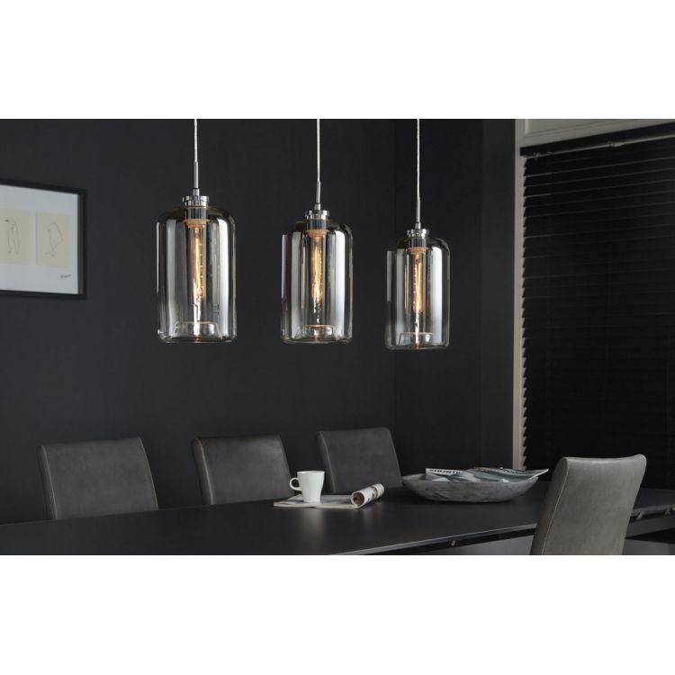 Suspension design en métal 3 lampes en verre Charlie