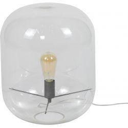 Lampe de table design en verre transparent Eloïse