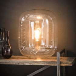 Lampe de table design en verre transparent Eloïse