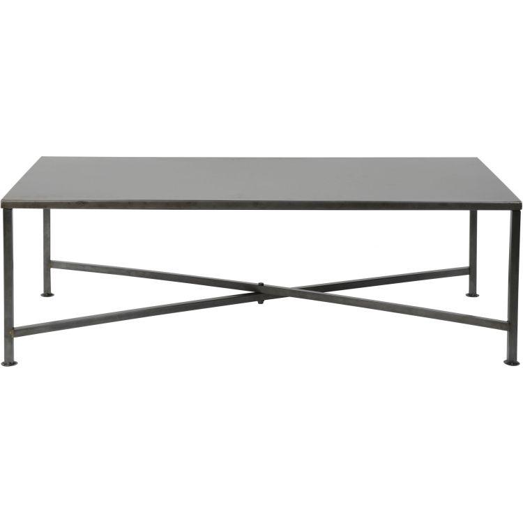 Table basse design en acier noir Flore