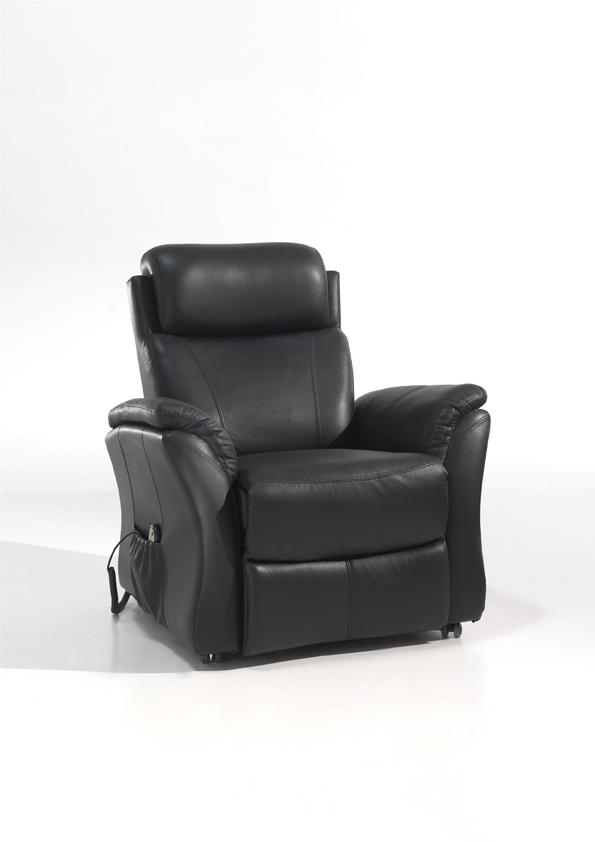 Fauteuil massant de relaxation cuir électrique KYRIEL